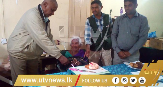 சர்வதேச மகளீர் தினத்தை முன்னிட்டு 94 வயது நாகம்மாவிற்கு பிறந்த நாள் கொண்டாட்டம்